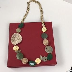 Jade  Stone Vintage Necklace Never Worn